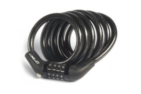 Замки XLC combination lock+spiral cable 8 x 1200 mm 470