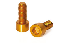 Фляги и держатели XLC Screws for water bottle holders 2piece Set, gold BC-X02 300